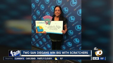 Two San Diegans win big with scratchers