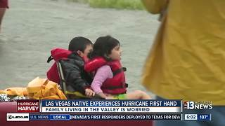 Las Vegans worry for family, friends stuck in Houston - Video