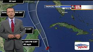 Tropical Storm Nate Forecast with Greg Dee on Friday, October 6, 2017 (5AM) - Video