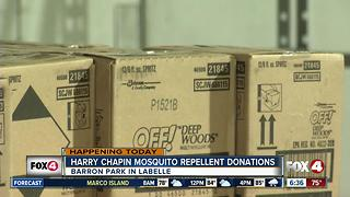 Food bank offering free mosquito repellent