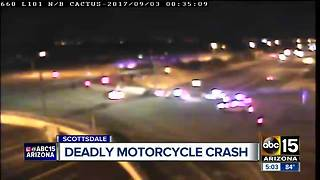 Motorcyclist killed on Loop 101 in Scottsdale - Video