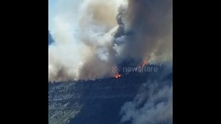Large wildfire burns near Durango, Colorado