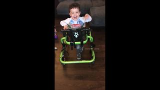 """Determined"" toddler with cerebral palsy walks unaided for the first time"