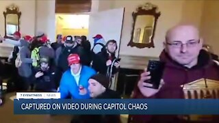 Videos show local man inside Capitol during chaos