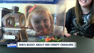 "Adorable little girl loves her ""Creepy Crawlers"""