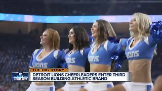 Detroit Lions cheerleaders enter third season building athletic brand