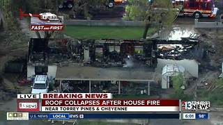 Home destroyed by fire near Torrey Pines & Cheyenne
