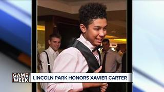 Lincoln Park honors Xavier Carter - Video