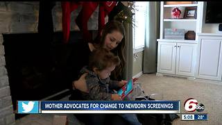 Westfield mother advocates for change in newborn screenings - Video