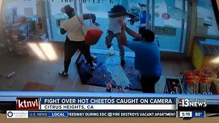 Fight over hot cheetos caught on camera - Video