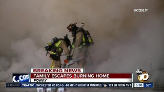 Family escapes house fire in Poway