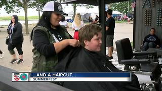 Summerfest and a haircut - Video