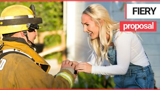 Firefighter Stages Dramatic Attic Blaze To Propose To College Sweetheart