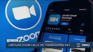 Zoom calls free on Thanksgiving