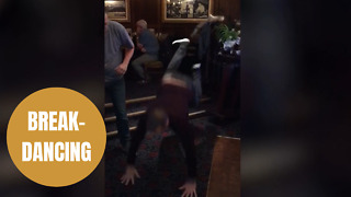 Hilarious footage shows pub-goer failed attempt to do the Worm