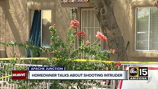 Apache Junction homeowner speaks about home invasion encounter