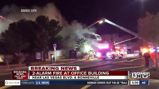 2-alarm fire in Downtown Las Vegas - Video