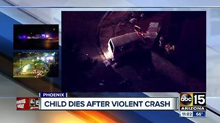 3-year-old killed in Phoenix crash, several hurt - Video