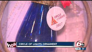 Circle of Lights ornaments on sale in downtown Indy - Video