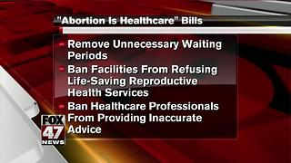 Legislation introduced to make it easier for women to get abortions - Video