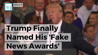 Trump Finally Named His 'Fake News Awards' Winners, Here's The List - Video