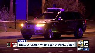 Self-driving Uber car hits, kills pedestrian in Tempe - Video