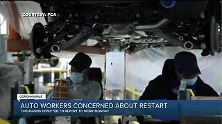 Auto workers concerned about restart