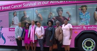 Pink bus unveiled to raise breast cancer awareness