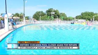 Historic Cuscaden pool closed again for repairs - Video