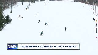 Snow brings business to ski country - Video