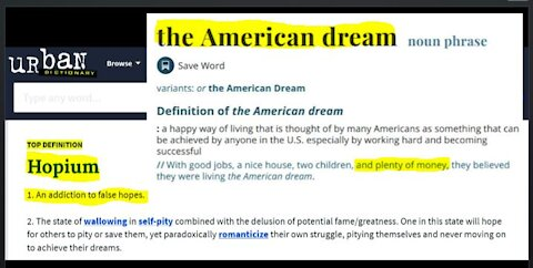 Is Living the American Dream Include Selling Hopium By Asking Your Subs and Viewers For Donations?