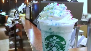 Starbucks releases Crystal Ball frappuccino - Video