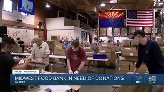 Midwest Food Bank in Gilbert is in need of food donations