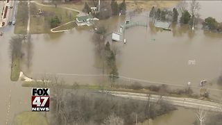 aerial footage of flooding - Video