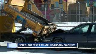 Search for driver in fatal hit-and-run continues - Video