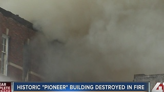 "Historic ""Pioneer"" building destroyed in fire - Video"