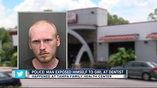 Man arrested after exposing himself to child at the dentist's office - Video