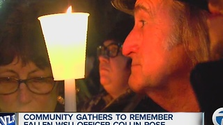 Vigil held in memory of slain Wayne State officer Collin Rose - Video