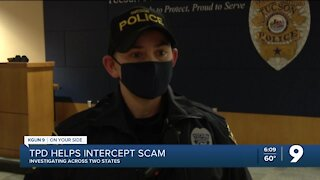 Tucson police officer helps intercept scam, investigation spanning across two states