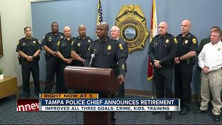 TPD Police Chief Ward announces retirement - Video