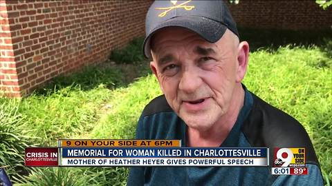 Memorial for woman killed in Charlottesville