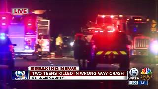 2 teens killed, 2 people injured in St. Lucie County wrong-way crash - Video