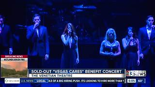 People attend sold-out Vegas Cares concert - Video