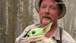 'Baby Yoda' helps fight fires in Oregon