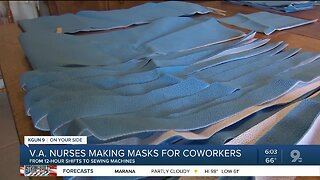 Making masks for coworkers, friends and family