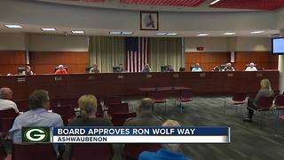 Titletown street to be renamed after Ron Wolf - Video