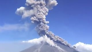 Ash Cloud Rises From Erupting Mayon Volcano - Video