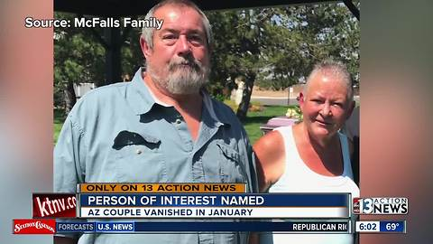 Deputies name person of interest after Arizona couple vanishes