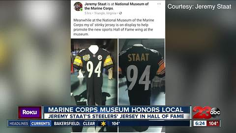 Jeremy Staat's Steelers' Jersey Hangs in Hall of Fame