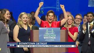 Gretchen Whitmer wins Democratic nomination for Michigan governor - Video